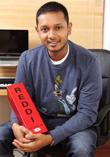 pic of Dishan Abrahams with A-Designs REDDI valve DI box