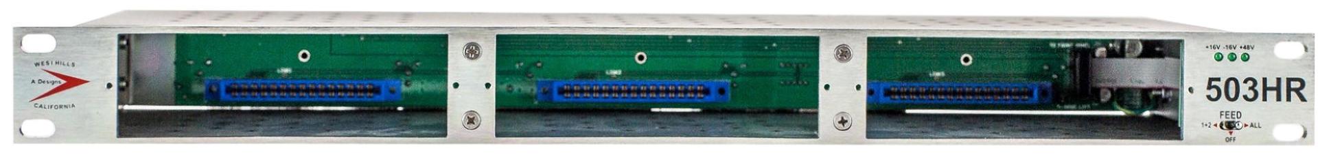 A Designs 503HR 1U 3 slot rack